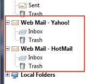 Webmail folders