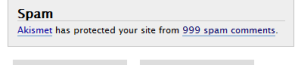 Akismet caught 999 spam