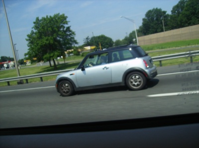 MINI Cooper on the road small