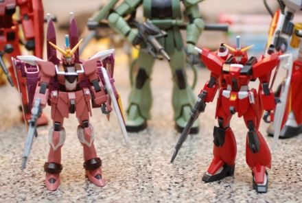 HG Justice and Saviour Gundams