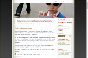 How my blog used to look