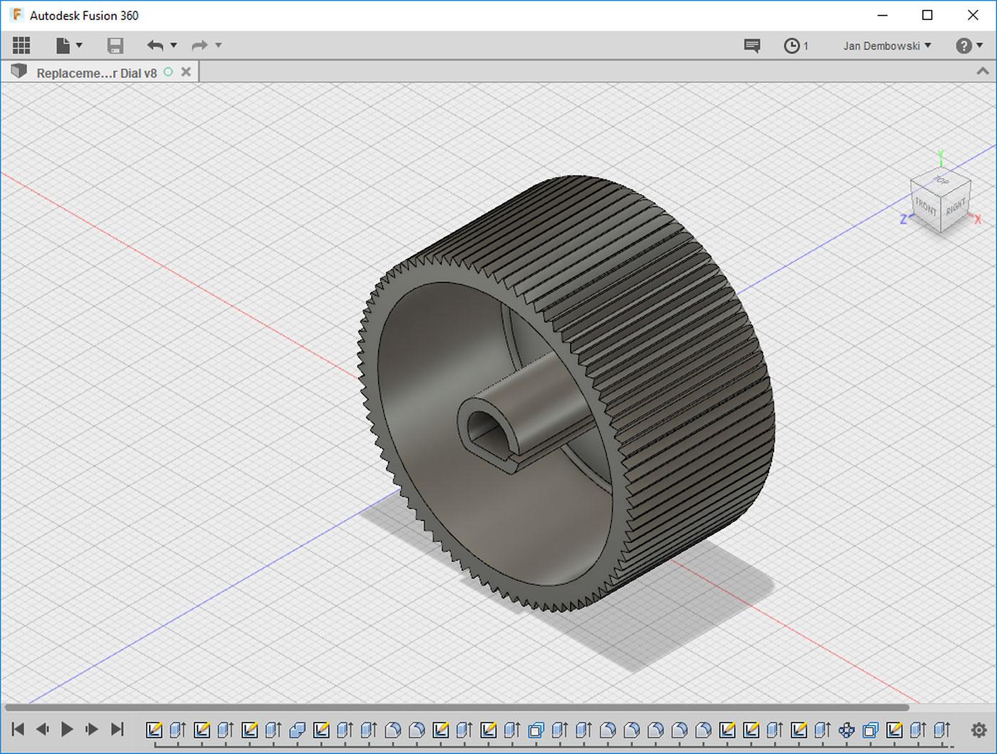A 3D Printed Dial
